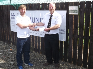 The Community Scheme are proud to announce another year of partnership with the NRCFA We have sponsored the U14 County Cup, U12 County Cup and the U14 Girls County Cup for the coming season. Pictured are Steven Wade. The NRCFA County Development Manager and Mark Riley representing The Community Scheme.